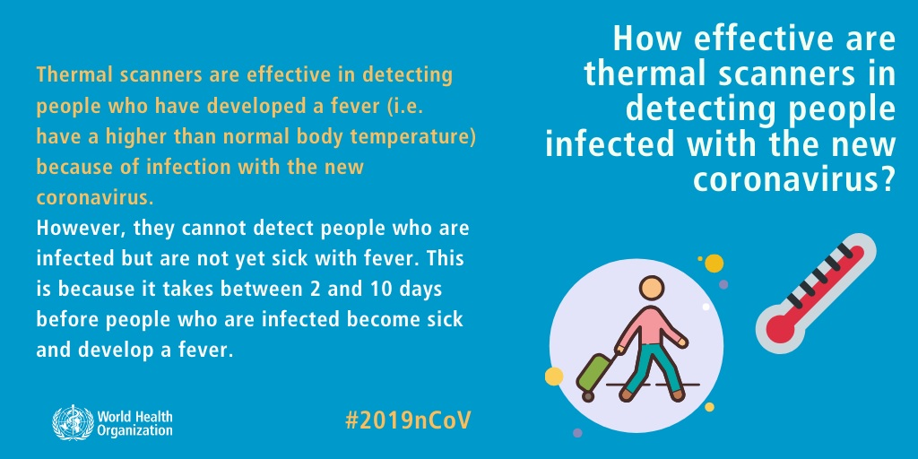 How effective are thermal scanners in detecting people infected with the new coronavirus?